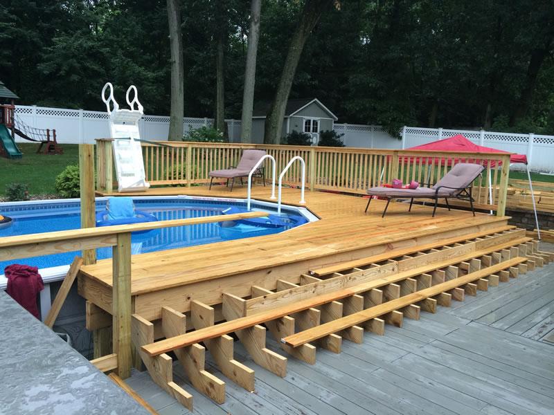 building a safe pool deck