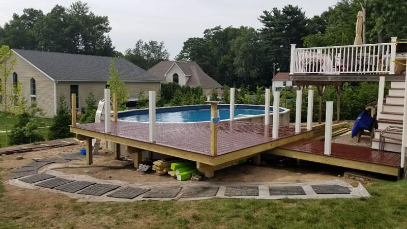 building a trex composite pool deck