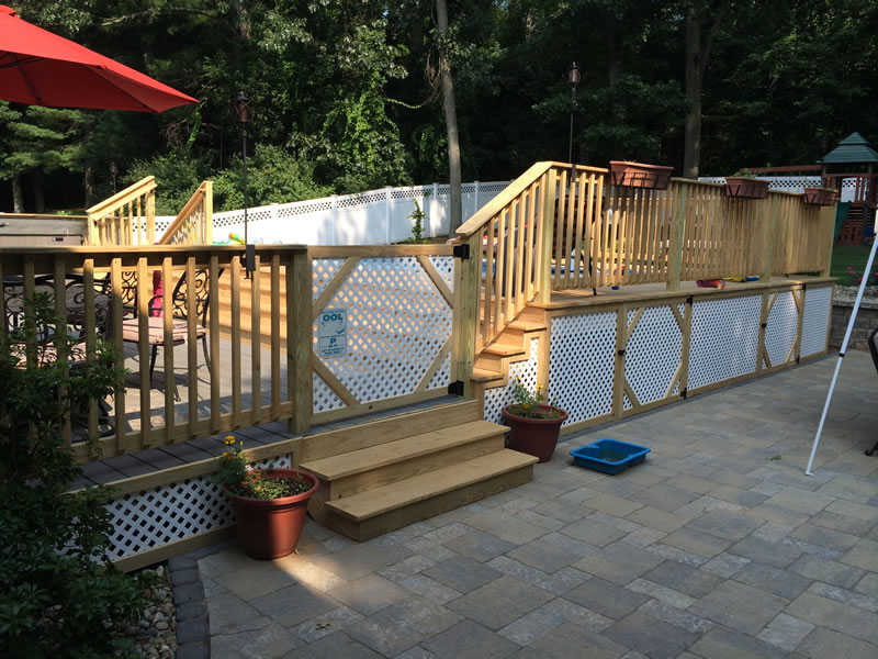 Regan Total Construction pool decks and rails