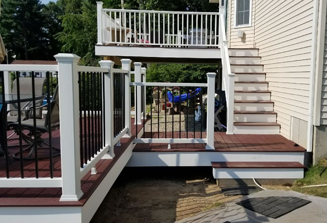 Trex composite deck, stairs and rails