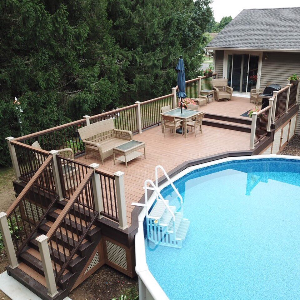 Corber View of Pool Deck