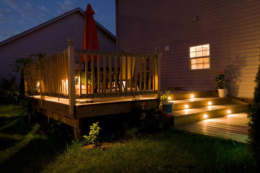 Deck Lighting by Regan Total Construction
